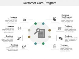 Customer Care Program Ppt Powerpoint Presentation File Shapes Cpb