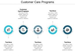 Customer Care Programs Ppt Powerpoint Presentation File Show Cpb