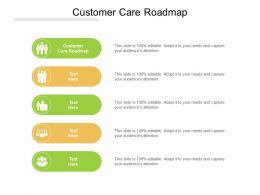 Customer Care Roadmap Ppt Powerpoint Presentation Slides Visuals Cpb