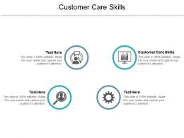 Customer Care Skills Ppt Powerpoint Presentation Outline Slide Portrait Cpb