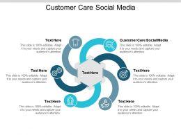 Customer Care Social Media Ppt Powerpoint Presentation Portfolio Cpb