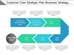 Customer Care Strategic Plan Business Strategy Hr Strategy Cpb