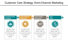 Customer Care Strategy Omni-Channel Marketing Psychology Business Cpb