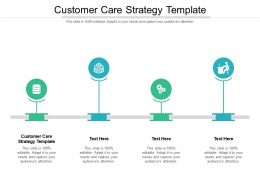 Customer Care Strategy Template Ppt Powerpoint Presentation Summary Show Cpb