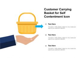 Customer Carrying Basket For Self Contentment Icon