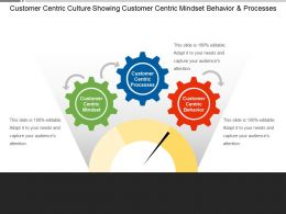 Customer Centric Culture Showing Customer Centric Mindset Behavior And Processes