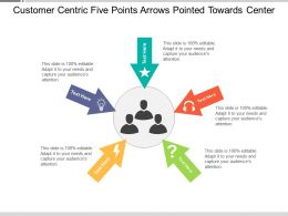 Customer Centric Five Points Arrows Pointed Towards Center