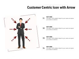Customer Centric Icon With Arrow
