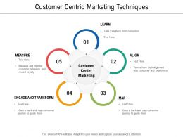 Customer Centric Marketing Techniques