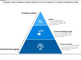Customer Centric Measures Matrix Showing Voice Of Customer And Customer Satisfaction Index