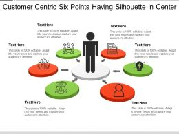 Customer Centric Six Points Having Silhouette In Center