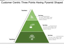 Customer Centric Three Points Having Pyramid Shaped