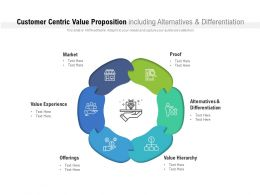 Customer Centric Value Proposition Including Alternatives And Differentiation