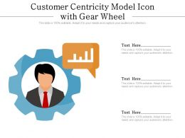 Customer Centricity Model Icon With Gear Wheel
