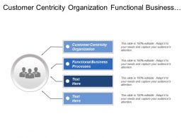 Customer Centricity Organization Functional Business Processes Product Portfolio
