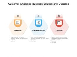 Customer Challenge Business Solution And Outcome