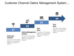 Customer Channel Claims Management System Organizational Change Management Cpb
