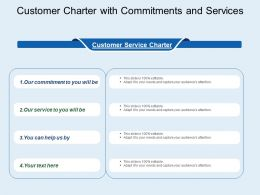 Customer Charter With Commitments And Services