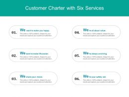 Customer Charter With Six Services