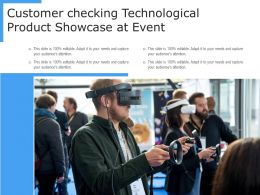 Customer Checking Technological Product Showcase At Event