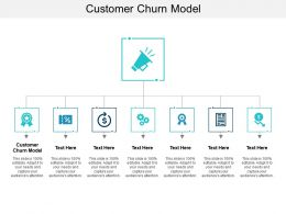 Customer Churn Model Ppt Powerpoint Presentation Gallery Guidelines Cpb