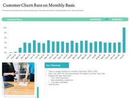 Customer Churn Rate On Monthly Basis Handling Customer Churn Prediction Golden Opportunity Ppt Tips