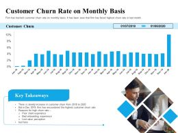 Customer Churn Rate On Monthly Basis Lost Ppt Powerpoint Presentation Model Slide
