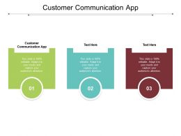 Customer Communication App Ppt Powerpoint Presentation Icon Clipart Cpb