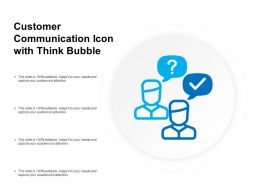 Customer Communication Icon With Think Bubble