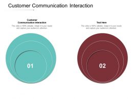 Customer Communication Interaction Ppt Powerpoint Presentation File Gallery Cpb