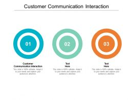 Customer Communication Interaction Ppt Powerpoint Presentation Gallery File Formats Cpb