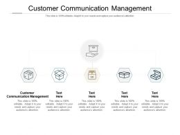 Customer Communication Management Ppt Powerpoint Presentation Icon Designs Cpb