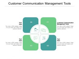 Customer Communication Management Tools Ppt Powerpoint Presentation Styles Outfit Cpb