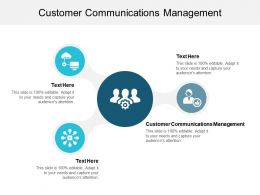 Customer Communications Management Ppt Powerpoint Presentation File Themes Cpb