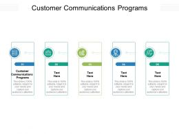 Customer Communications Programs Ppt Powerpoint Presentation Ideas Deck Cpb