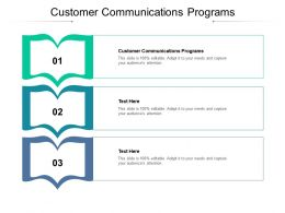 Customer Communications Programs Ppt Powerpoint Presentation Summary Outline Cpb
