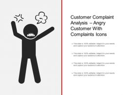Customer Complaint Analysis Angry Customer With Complaints Icons