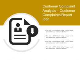 Customer Complaint Analysis Customer Complaints Report Icon