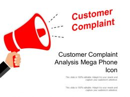 Customer Complaint Analysis Mega Phone Icon