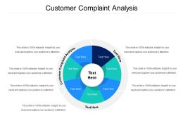 Customer Complaint Analysis Ppt Powerpoint Presentation Styles Topics Cpb