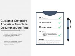 Customer Complaint Analysis Trouble In Occurrence And Type