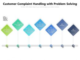 Customer Complaint Handling With Problem Solving