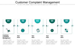 Customer Complaint Management Ppt Powerpoint Presentation Pictures Introduction Cpb