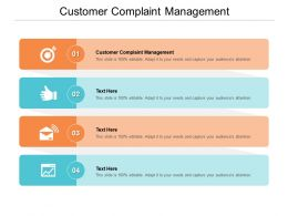 Customer Complaint Management Ppt Powerpoint Presentation Summary Graphics Template Cpb