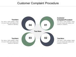 Customer Complaint Procedure Ppt Powerpoint Presentation Model Graphics Tutorials Cpb