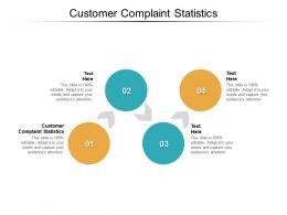 Customer Complaint Statistics Ppt Powerpoint Presentation Cpb