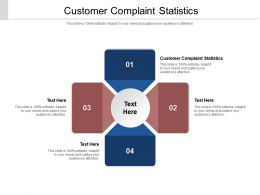 Customer Complaint Statistics Ppt Powerpoint Presentation Infographic Template Cpb