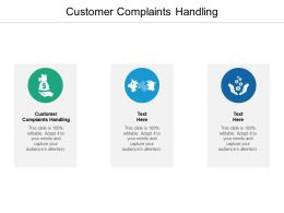 Customer Complaints Handling Ppt Powerpoint Presentation Model Sample Cpb
