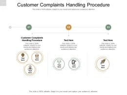 Customer Complaints Handling Procedure Ppt Powerpoint Presentation Pictures Vector Cpb
