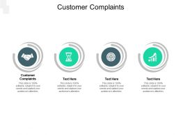 Customer Complaints Ppt Powerpoint Presentation Slides Example Topics Cpb